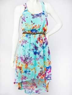 Floral High Low Dress - Casual - Dresses