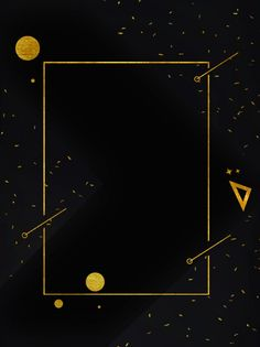 Black gold wind creative border geometric poster background design Powerpoint Background Design, Poster Background Design, Gold Background, Background Templates, Background Designs, Geometric Background, Conception D'applications, Award Poster, Sports Graphic Design