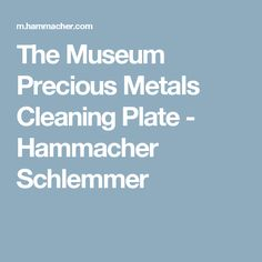 The Museum Precious Metals Cleaning Plate - Hammacher Schlemmer