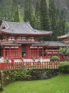 Japanese temple, Oahu, Hawaii