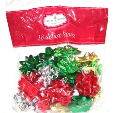 Trim A Home Deluxe Medium Metallic Gift Wrapping Holiday Christmas Bows 18 Count #TrimAHome