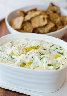 baked ricotta with lemon, garlic & chives // the kitchn