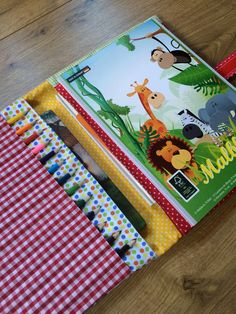 Malbuch, Stiftemäppchen,incl.Stiffte,Block*Äffchen von * Creative Happiness * auf DaWanda.com