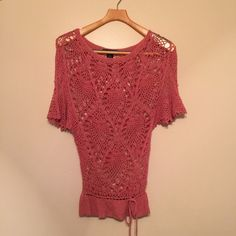 Arden B. Silk Salmon Pink Loose knit shirt In excellent used condition Arden B Tops