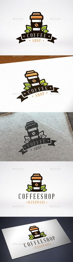 Coffee Shop Logo Template — Vector EPS #espresso #corporate • Available here → https://graphicriver.net/item/coffee-shop-logo-template/12203481?ref=pxcr