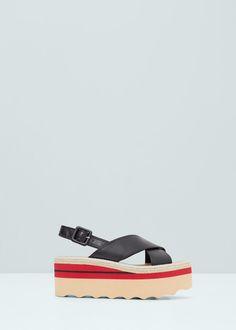 Platform strap sandals - Shoes for Woman | MANGO Lithuania