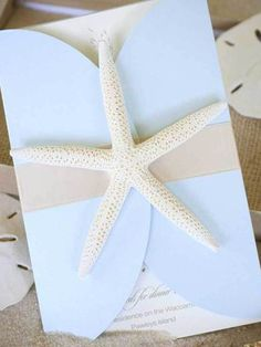 Beach Wedding Invitations, starfish beach wedding invitations #beach #wedding #invitation www.loveitsomuch.com