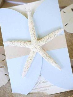 Beach Wedding Invitations, starfish beach wedding invitations www.loveitsomuch.com