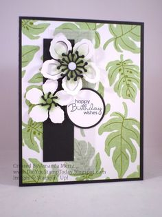 Bold Tropical Birthday by mandypandy - Cards and Paper Crafts at Splitcoaststampers