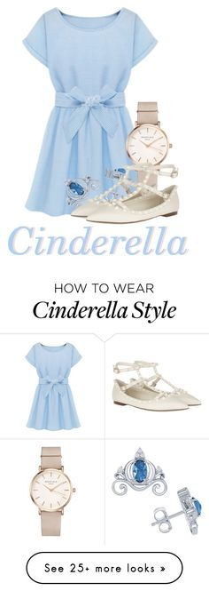 """A dream is a wish your heart makes"" by beckthemermaid on Polyvore featuring Disney, ROSEFIELD and Valentino"