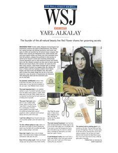 @The Wall Street Journal at my vanity, Yael Alkalay