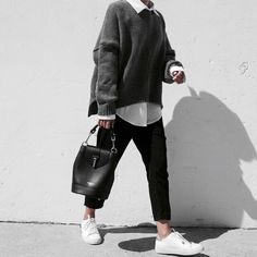 Find images and videos about girl, fashion and style on We Heart It - the app to get lost in what you love. Smart Casual Work Outfit, Casual Fall Outfits, Winter Fashion Outfits, Stylish Outfits, Outfit Trends, Mode Streetwear, Mode Inspiration, Fashion Inspiration, Looks Style