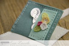 Interior Needle Book Pocket Page by Erin Lincoln for Papertrey Ink (February 2015)