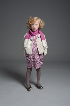 There is also a small floral print in the Hucklebones fall/winter 2013 kids fashion collection.