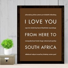 Whether you took a recent trip to Table Mountain or Robbin Island or you are a fan of Nelson Mandela, this South African travel poster is for you! Give a cultural gift for a friend's dorm room or an i Table Mountain, Nelson Mandela, Africa Travel, Culture Travel, Travel Posters, Italy Travel, Dorm Room, South Africa, African