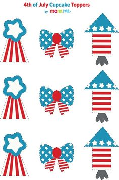 July 4th Cupcake Toppers Free Printables!