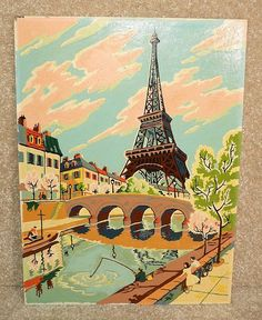 Paris paint by numbers by Donald Fortenberry