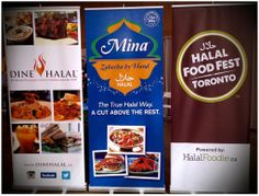 Custom retractable banners on display at Halal Food Fest Toronto