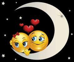 <3 Moonlight Lovers Good Night Prayer, Good Night Moon, Good Night Image, Good Morning Good Night, Good Night Quotes, Heart Emoticon, Emoticon Faces, Smiley Faces, Love Smiley