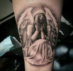 Angel Tattoo For Women, Fallen Angel Tattoo, Guardian Angel Tattoo, Tattoos For Women, Tattoo Angel Wings, Angel Girl Tattoo, Angel Back Tattoo, Angel Sleeve Tattoo, Ange Tattoo