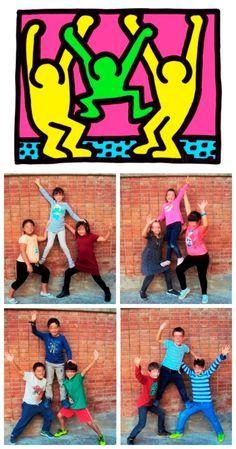 Keith Haring More kunst, School Art Projects, Art School, Atelier Photo, Keith Haring Art, Tableaux Vivants, 2nd Grade Art, Ecole Art, Art Lessons Elementary, Arte Pop