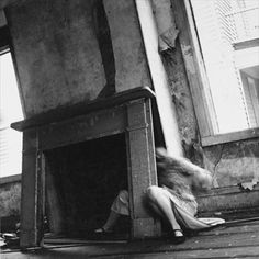Francesca Woodman House Providence, Rhode Island, 1976 Gelatin silver print, x cm Courtesy George and Betty Woodman Francesca Woodman, Ansel Adams, Rhode Island, Yves Klein, Duane Michals, Between Two Worlds, Gelatin Silver Print, Lower East Side, Man Ray