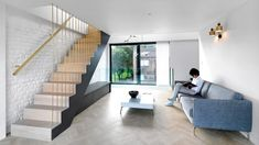 Threefold Architects adds staggered floors to Fissure House in London