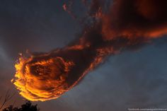 Incredible Fireball Cloud Spotted Over Portugal's Madeira Island