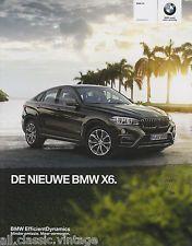 BMW - X6 prospekt/brochure/folder Dutch 2014 | eBay