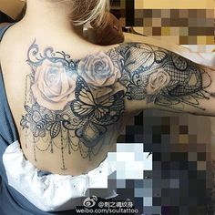 lace tattoo - Google Search                                                                                                                                                      More