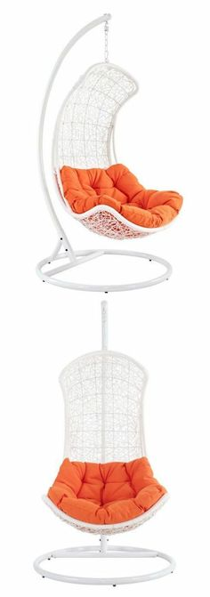 Rattan Outdoor Wicker Patio Swing. I have wanted one of these in my bedroom since I was small.