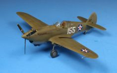 Airfix's 1/72 Tomahawk finished as a P-40B in Pearl Harbor defender markings (Starfighter decals);