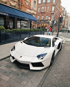 Lamborghini Aventador Coupe painted in Bianco Canopus Photo taken by: @c.ll.m on Instagram