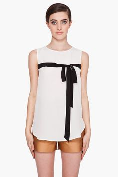 3.1 PHILLIP LIM // Floating Bow Silk Blouse