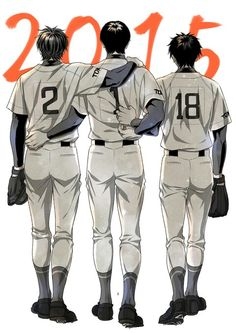 I cant figure out if this is FuruMiSawa ot3 or Sawamura trying to rip the #1 off of Furuya's shirt