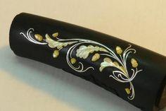 Инкрустация эбеновой рукоятки ножа