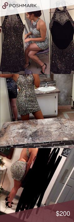 Semi/homecoming dress Only worn once price negotiable. Size 6/8 Dresses Prom