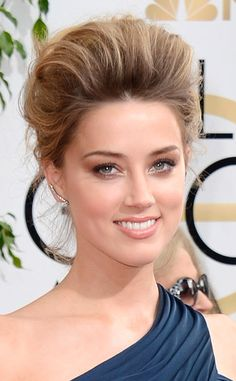 Amber Heard from Best Beauty Looks at the 2014 Golden Globes | E! Online