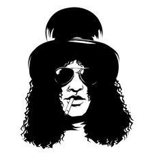Guns And Roses, Slash, Black And White Artwork, Black And White Drawing, Yoruba Religion, Guitar Logo, Classic Rock And Roll, Heavy Metal Rock, Glass Engraving
