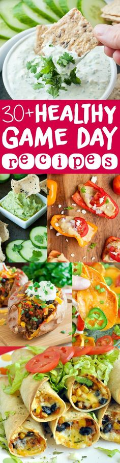 Healthy Game Day Recipes :: Ditch the deep-fried chips and frozen apps and whip up these veggie-centric dips, finger foods, and snacks for the big game! Best Appetizer Recipes, Dinner Party Recipes, Party Dishes, Yummy Appetizers, Sweets Recipes, Party Snacks, Appetizers For Party, Snack Recipes, Healthy Recipes