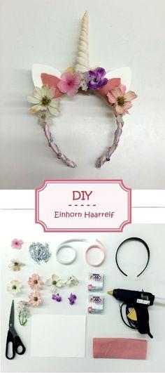 #miraliablog DIY Anleitung für einen zauberhaften Einhorn Haarreif. Für kleine…