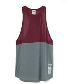 Burgundy and grey tank top from VS Pink