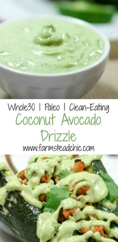 This Coconut Avocado Drizzle is light, cool and creamy with a tropical vibe. And oh yeah, it's Whole30-compliant, Paleo, dairy free + all kinds of healthy.