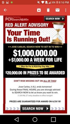 """Pch i jcg claim """"wint it all"""" prize from gwy Instant Win Sweepstakes, Online Sweepstakes, Lotto Winning Numbers, Win For Life, Yes I Will, Winner Announcement, Publisher Clearing House, Congratulations To You, Santiago"""