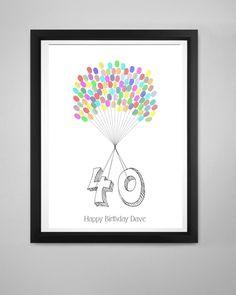 40th Birthday Fingerprint Kit