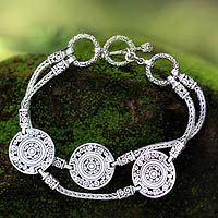 Hand made in Indonesia .925 sterling.   My dream is to meet the artist who made this next September!