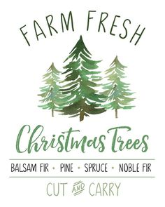 Farm Fresh Christmas Trees Free Christmas Printable - Clean and Scentsible