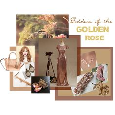 Goddess of the Golden Rose by seamsvictorian on Polyvore