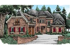 Eplans French Country House Plan - Luxurious European French Country Home - 3073 Square Feet and 3 Bedrooms from Eplans - House Plan Code European Plan, European House Plans, Luxury House Plans, Best House Plans, House Floor Plans, French Country House Plans, French Country Style, Home Building Design, Fancy Houses