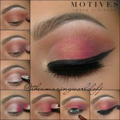 """Step by Step for the last look! ❤ @motivescosmetics -Eye Base Pressed Eyeshadows in -Caramel (transition above crease) -Obsession (to darken the outer…"""